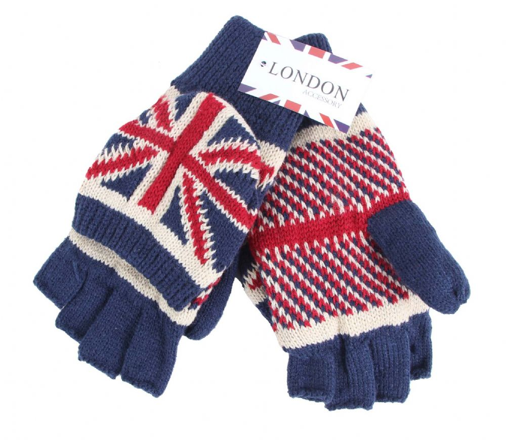 Mitten union jack fingerless gloves GL5697